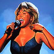 Tina Turner Queen Of Rock Art Print