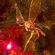 Tinker Bell Christmas Tree Landing Art Print