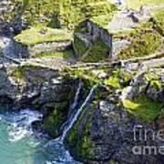 Tintagel Waterfalls Art Print