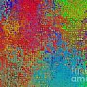 Tiny Blocks Digital Abstract - Bold Colors Art Print
