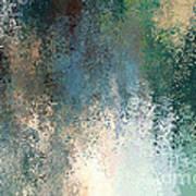 Tiny Blocks Digital Abstract - Cool Blues Art Print