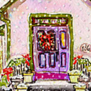 Tiny Purple Church In The Woods Art Print