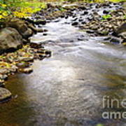 Tiny Rapids At The Bend  Art Print