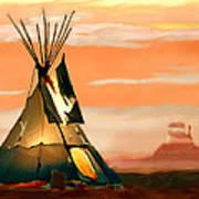Tipi Or Tepee Monument Valley Art Print