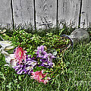 Tipsy Flowers Art Print