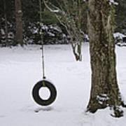 Tire Swing In Winter Art Print