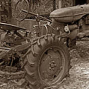 Tired Tractor...... Sepia Art Print