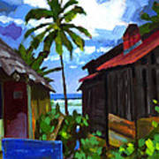 Tiririca Beach Shacks Art Print