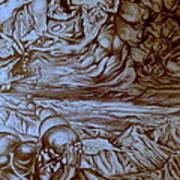Titan In Desert Art Print