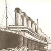 Titanic Drawing Art Print
