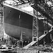 Titanic Under Construction Art Print