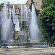Tivoli Garden Fountain Art Print