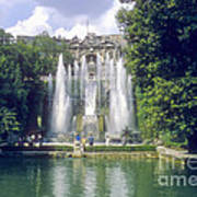 Tivoli Garden Fountain Reflection Art Print