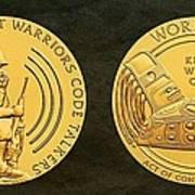 Tlingit Tribe Code Talkers Bronze Medal Art Art Print
