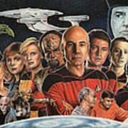 Tng Crew Season 1 Art Print by Jonathan W Brown