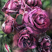 To Be Loved - Mauve Rose Art Print