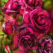 To Be Loved - Red Rose Art Print