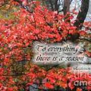 To Everything There Is A Season Art Print