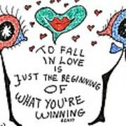 To Fall In Love Art Print