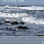 To The Crazy Ones Quote By Stove Jobs Art Print