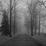To Where It Leads  Bw Art Print