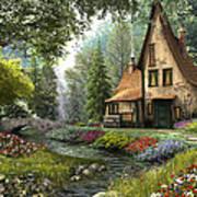 Toadstool Cottage Art Print