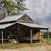 Tobacco Barn In North Carolina Art Print