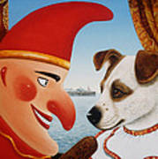Toby And Punch, 1994 Oils And Tempera On Panel Art Print