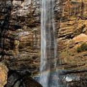 Toccoa Falls With Rainbow Art Print