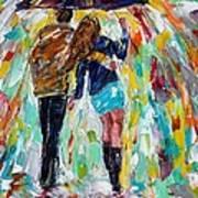 Together In The Rain  Art Print