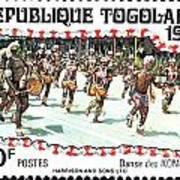 Togo Stamp Art Print