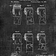 Toilet Paper Patent 040 Art Print