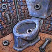 Toilet Stories #9 Art Print by Carlos Enrique Prado