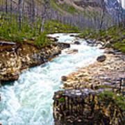 Tokuum Creek Flowing Into Marble Canyon In Kootenay Np-bc Art Print