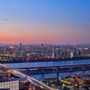 Tokyo As Night Descends Art Print
