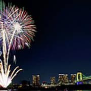 Tokyo Fireworks Art Print