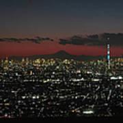 Tokyo Skytree, Fuji, And Tokyo Tower Art Print