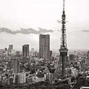 Tokyo Tower And The Zozo-ji Temple Art Print