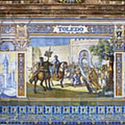 Toledo In The Province Alcove Of The Plaza De Espana Art Print