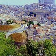 Toledo Spain In Blue Art Print