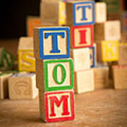 Tom - Alphabet Blocks Art Print