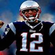 Tom Brady Back To The Super Bowl Art Print