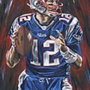 Tom Brady Print by David Courson