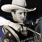 Tom Mix Portrait Melbourne Spurr Hollywood California C.1925-2013 Art Print