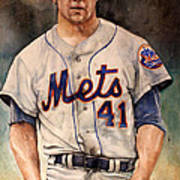 Tom Seaver Print by Michael  Pattison