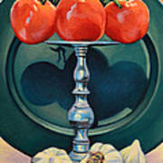 Tomato And Garlic Art Print