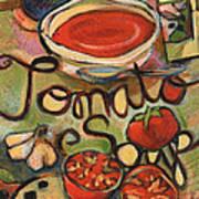 Tomato Soup Recipe Art Print by Jen Norton