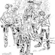Tommy And Ben Are Like Green Berets Art Print