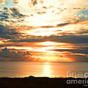 Tomorrow Is A New Day- Beach At Sunset Art Print by Artist and Photographer Laura Wrede