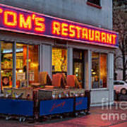 Tom's Restaurant Art Print